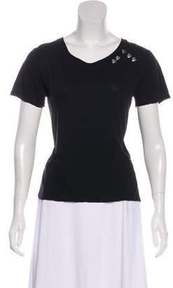 Saint Laurent Knit Short Sleeve Top