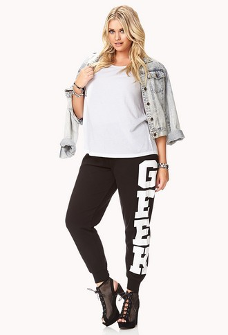 Forever 21 FOREVER 21+ Half-Time Geek Sweatpants