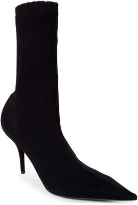 Balenciaga Knife Stretch Knit Pointed Toe Booties