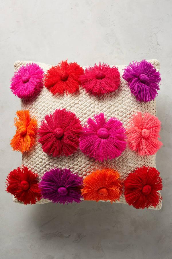 AnthropologieAnthropologie Textured Blooms Pillow