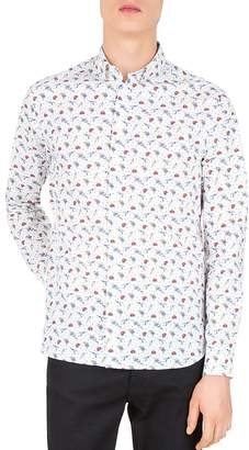 The Kooples Love Skulls Slim Fit Button-Down Shirt