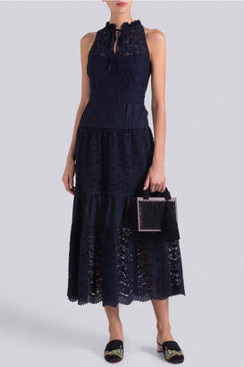 Temperley London Lunar Lace Midi Dress