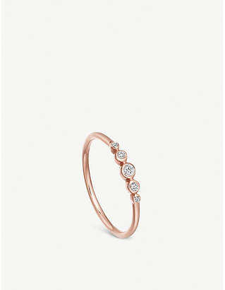 Astley Clarke Icon Nova mini 14ct rose-gold and diamond ring