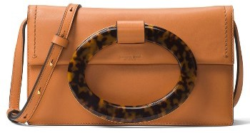 MICHAEL Michael Kors Michael Kors Baxter Calfskin Leather Convertible Clutch - None