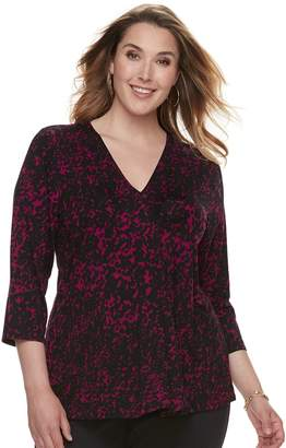 Dana Buchman Plus Size Release Pleat Top
