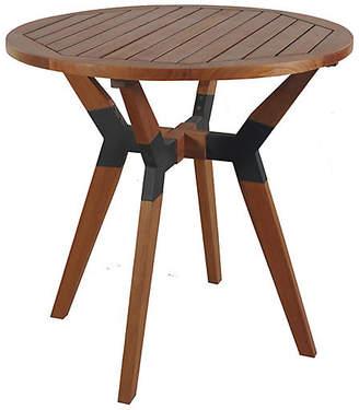 One Kings Lane Slat Outdoor Bistro Table - Brown