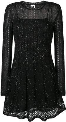 M Missoni glitter effect dress