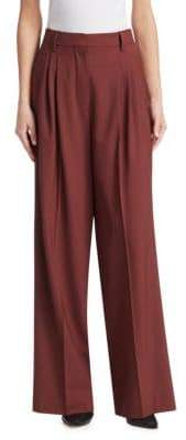 Brunello Cucinelli High-Waist Wool Palazzo Trousers