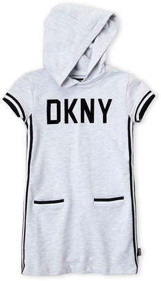 DKNY Girls 4-6x) Grey Hoodie Dress