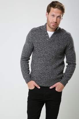 Next Mens Threadbare Twist Notch Knitted Pullover