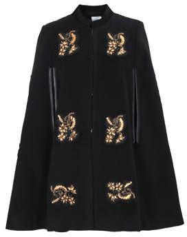 Jovonna London Black Golden Age Embroidered Cape - 8 UK - Black