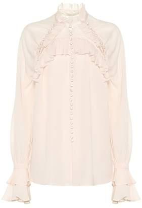 Jonathan Simkhai Ruffled silk blouse