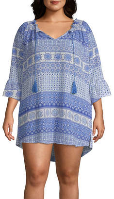 Porto Cruz Knit Swimsuit Cover-Up Dress-Plus