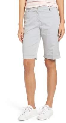 Brax Stretch Cotton Cuff Bermuda Shorts