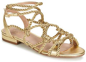 9e647b743474 Kurt Geiger Gold Flat Sandals - ShopStyle UK