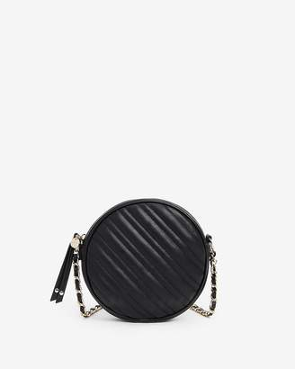 Express Quilted Circle Chain Strap Crossbody Bag