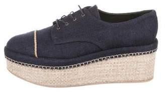 Stuart Weitzman Denim Flatform Sneakers