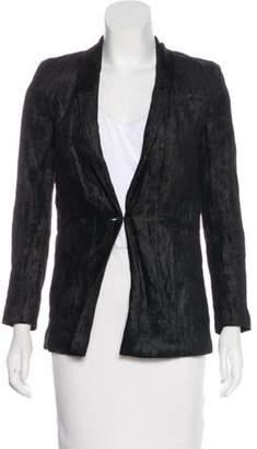 J Brand Shawl Collar Textured Blazer Black Shawl Collar Textured Blazer