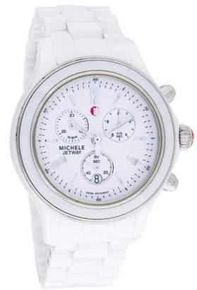 Michele Jetway Sport White Ceramic Watch