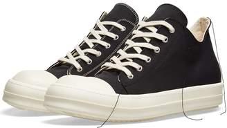 Rick Owens Contrast Stitch Low Canvas Sneaker