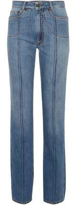 Maison Margiela Distressed High-Rise Straight-Leg Jeans