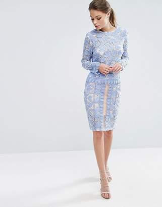 Endless Rose Lace Midi Skirt Co Ord
