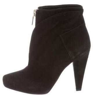 Proenza Schouler Suede Zip-Up Ankle Boots w/ Tags Black Suede Zip-Up Ankle Boots w/ Tags