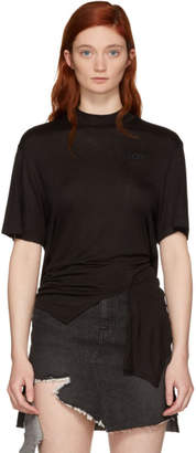 Sjyp Black Back Tied T-Shirt