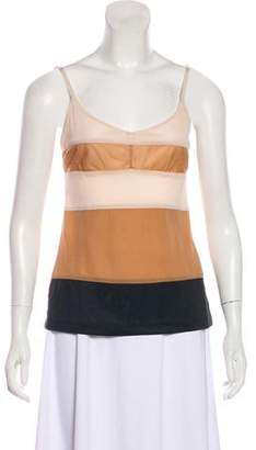 Reed Krakoff Sleeveless Colorblock Top