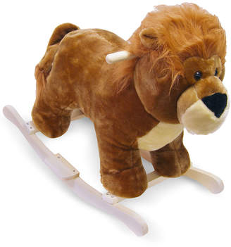Trademark Global Happy Trails Lion Plush Rocking Animal