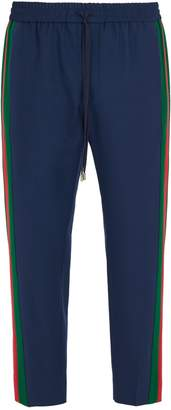 Gucci Side-stripe wool-blend trousers