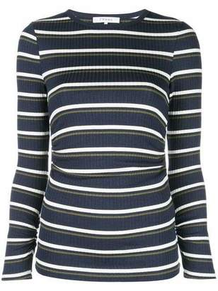 Frame Striped Crew Neck Sweater