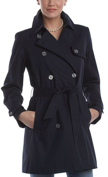 Chaps twill trench coat