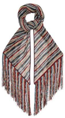 Missoni Metallic Stripe Knit Wrap Scarf - Womens - Multi
