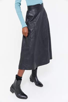 Urban Renewal Vintage As Is Leather Midi Skirt