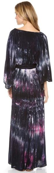 Blu Moon Angel Sleeve Maxi Dress