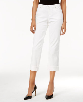 Style & Co Petite Curvy-Fit Capri Jeans, Created for Macy's $24.98 thestylecure.com