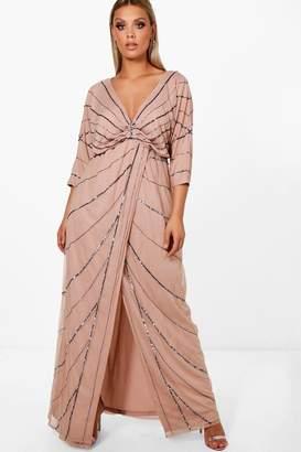 boohoo Plus Boutique Embellished Maxi Dress