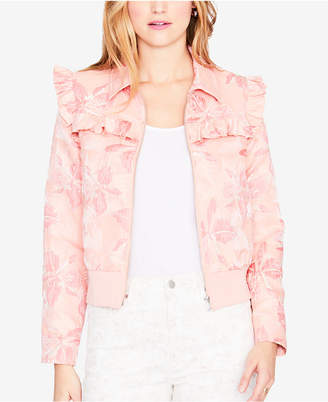 Rachel Roy Printed Ruffle-Trim Bomber Jacket, Created for Macy's