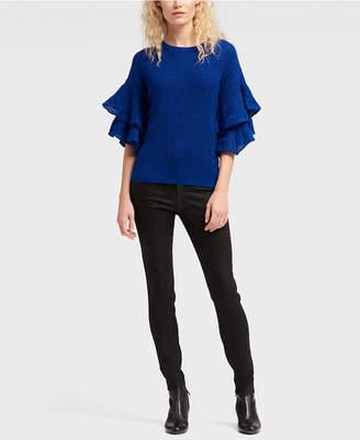 DKNY Ruffle-Sleeve Sweater