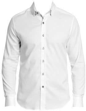 Robert Graham Men's Callowhill Tailored-Fit Shirt - White - Size Large