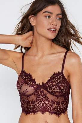 ff6c59290abdb Nasty Gal Greedy For Love Eyelash Lace Bralette