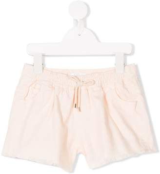 Chloé Kids drawstring raw edge shorts