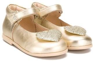 Florens heart-embellished ballerinas