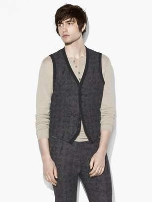 John Varvatos Abstract Jacquard Vest
