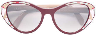 Prada oversized cat eye sunglasses