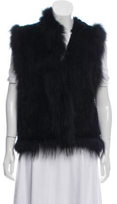 Belle Fare Fur Knit Vest w/ Tags Black Fur Knit Vest w/ Tags