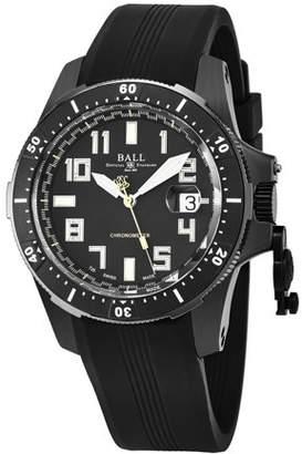 Ball Engineer Hydrocarbon Black Dial Silicone Strap Men's Watch DM2176A-P1CAJ-BK