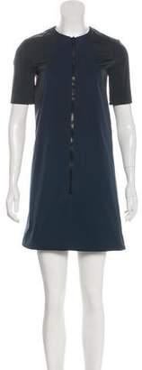 Hache Short Sleeve Mini Dress