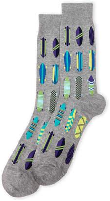 Hot Sox Skateboard Print Crew Socks